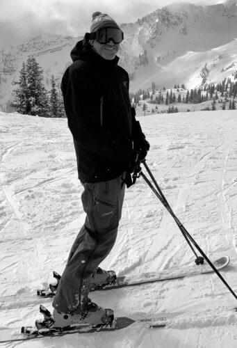 Shawn skiing at Snowbird